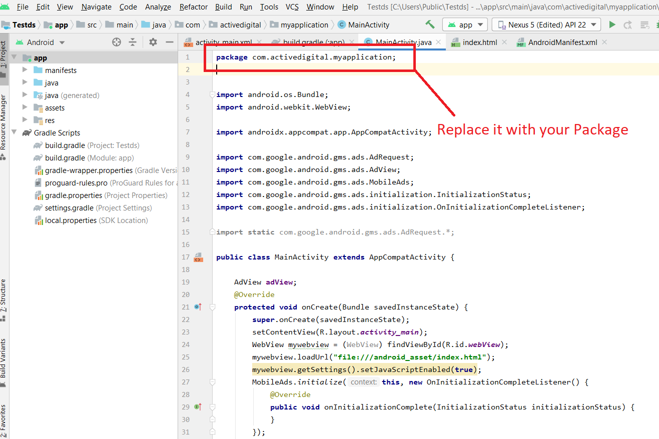 Create webview application